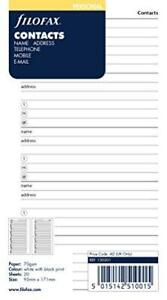 Filofax Name address telephone Refill For Personal Personal Compact Size 20