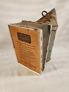 Vtg Bee Hive Smoker A i Root Company Leather Bellows Nice Compression
