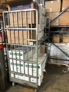 Utility Shelf Tub Storage Cart For Warehouse Silver Quantity 24 Available