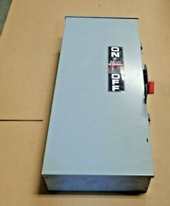 New Ge Th4324r 200 Amp 240 Volt Fusible 3r Outdoor 3 Phase 4 Wire Disconnect