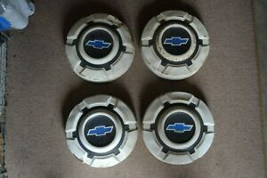 4 Vintage Chevy Bowtie Chevrolet Pickup Truck Hubcaps Wheel Covers 1 2 Ton