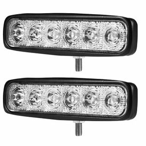 2pcs 18w Led Work Light Spot For Offroad Tractor Car Driving Headlight Atv Ute