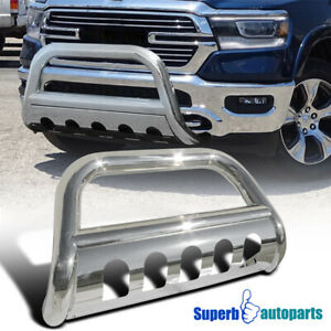 For 2019 Dodge Ram 1500 3 Stainless Steel Front Bumper Bull Bar Grille Guard