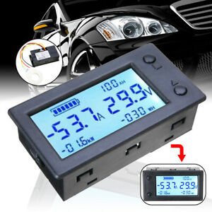 Digital Hall Coulombmeter Dc 300v 50a Voltmeter Ammeter Battery Power Meter Sell