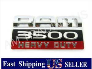 Genuine Oem Dodge Ram 3500 Heavy Duty Emblem Nameplate Decal Badge 55372159ac