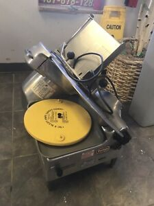 Berkel 818 Food Slicer Used With Blade Sharpener Guard Tray Automatic