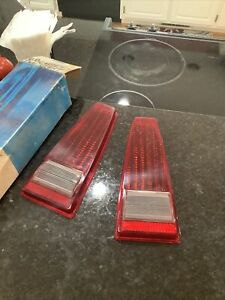 Nos 1968 Mercury Montego Rear Tail Light Lens Two With Back Ups