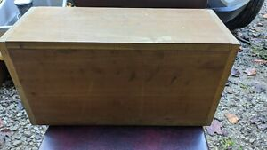 Sg20 Vintage Home Made Wood Wooden Box With Hinged Lid
