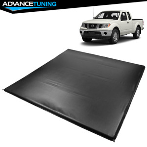 Fits 05 19 Nissan Frontier 6 1 Ft Truck Bed Quad 4 Fold Led Tonneau Cover