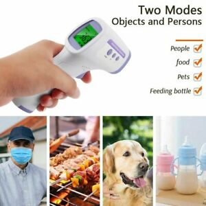 Lcd Digital Non contact Ir Infrared Thermometer Forehead Body Temperature Wd