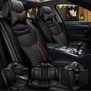 For Suv Truck Car Seats Cover Pu Leather Luxury Cushion Universal All Season Fit