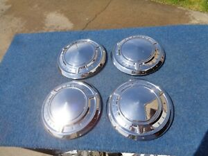 Pontiac Dog Dish Poverty Hubcaps Set 1960 1961 1962 1963 Catalina Super Duty