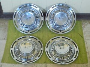 1959 Chevrolet Hub Caps 14 Set Of 4 Chevy Hubcaps Wheel Covers 59