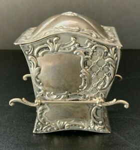 Antique Sterling Silver Playing Card Holder 3 5