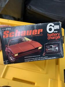 Schauer 10 Amp Car Or Auto Battery Charger For 6 And 12v Used 7612