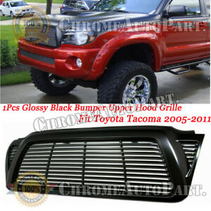 For 2005 2006 2007 2008 2009 2010 2011 Toyota Tacoma Front Upper Grille Black