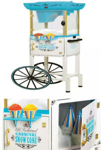Snow Cone Machine Cart Ice Shaving Maker Commercial Retro Vintage 48 Tall