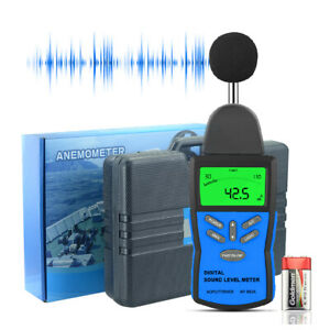 Holdpeak Digital Sound Level Meter 30 130 Db Noise Tester Lcd A c Frequency