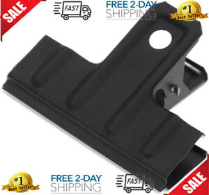 Coideal Black Large Bulldog Clips Thickened 10 Pack 3 Inch Long Metal Binder