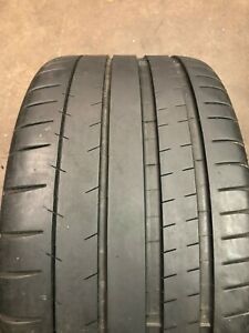 Set Of 2 Used 285 35zr19 Michelin Pilot Super Sport Zp 99y 7 32 No Repairs