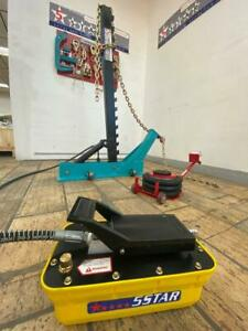 Portable Auto Body Pulling Post Frame Straightener Free Clamps 3 Ton Air Jack
