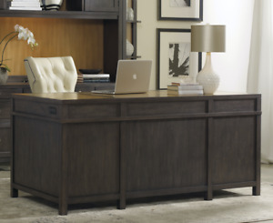 66 Rustic Modern Horchow Executive South Park Home Office Desk Gray Oak Wood