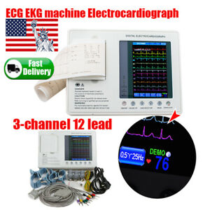 Portable Digital Ecg ekg Recoreder 12 Channel Electrocardiograph Machine 2020