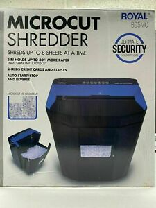 Royal 805mc Micro Cut Paper Shredder Heavy Duty 8 Sheet Micro Confetti Cut