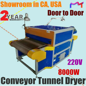 Us 220v 8000w Screen Printing Conveyor Tunnel Dryer 7 2ft Long X 31 5 Wide Belt