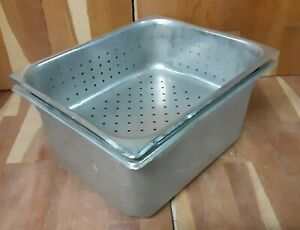 Half Size 6 Deep Steam Table Hotel Pan With Half Size 4 Perforated Pan