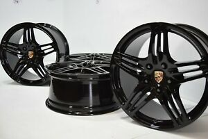 19 Porsche 911 997 Turbo 997 19 Turbo Factory Oem Black Wheels Rims