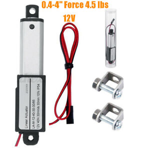 Mini Micro Linear Actuator Stroke 0 4 4 Force 4 5 Lbs 12v High speed 2 s Robot