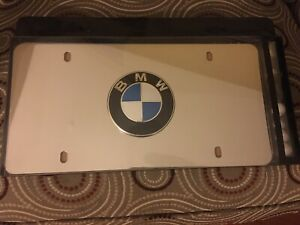 Genuine Bmw Marque Plates Polished Stainless Steel 82121470314 new