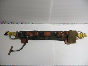 Jelco 2d Ring 80967 Climbing Belt Model 550 Size 24 44 Utility Pole Line Tree