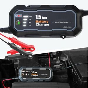 12v Automatic Battery Charger Maintainer For Car Truck Motor Vehicles Agm Gel Ea