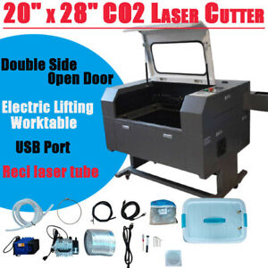 500x700 100w Co2 Laser Engraving Cutter Laser Cutting Engraver Pump blade Table