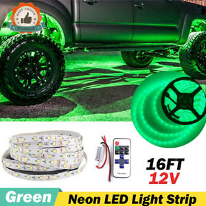 12v Led Green Neon Accent Underbody Lights Under Car Glow Kit For Gmc Sierra