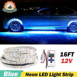 Under Car Blue Led Strip Bar Underbody Underglow Light Decoration Accessories