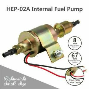 Universal 12v Electric Fuel Pump 3 6psi Low Pressure Gas Diesel Inline Hep 02a