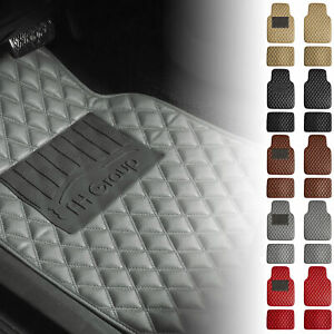 Universal Fitment Floor Mats For Car Suv Leather Diamond Design 5 Colors