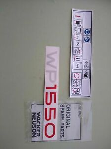 Wacker Wp1550 Plate Compactor Decal Type Label For Guide Handle
