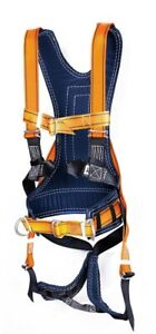 Safety Belt With Straps Adjustable Size 30 55 3 D rings Blue Yellow