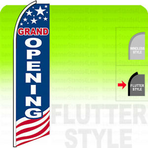 Grand Opening Swooper Flag Feather Sign 11 5 Flutter Style Usabb
