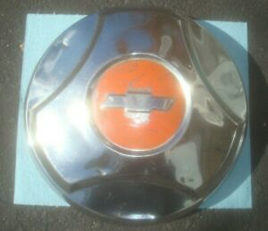 1964 1965 1966 Chevy Dog Dish Hubcap C10 1 2 Ton 10 5 Red Nub Style