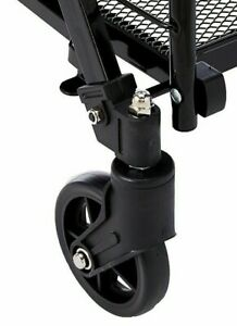 Uniware 1203 Shopping Cart Spare Front Wheel Only Black