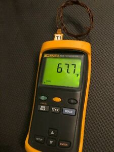 Fluke 51 2 Digital Thermometer With Thermal Couple