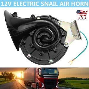 300db 12v Clearly Loud Electric Snail Air Horn For Car Truck Motorcycle Boat New