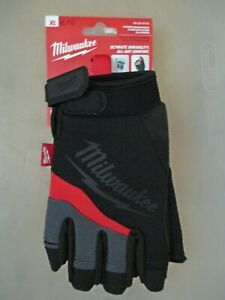 Milwaukee 48 22 8743 Performance Breathable Fingerless Work Gloves X large