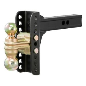 Curt 45900 Adjustable Trailer Hitch Ball Mount 2 inch Receiver 6 inch Drop 2