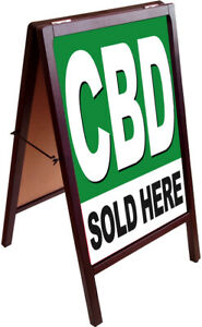 Cbd Sold Here A frame Sign Sidewalk Pavement Sign Double Sided 172875 Gb